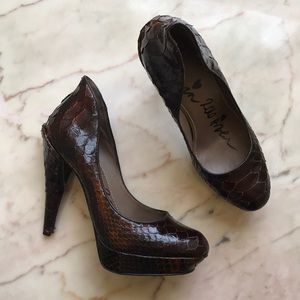Lanvin Brown Snakeskin Heels sz 37